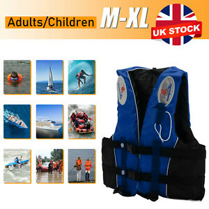 Adults/Kids Life Jacket Aid Vest Kayak Ski Buoyancy Fishing Watersport Safety