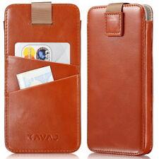 KAVAJ Custodia iPhone 8 iPhone 7 in Pelle Dallas Vera Pelle Cognac