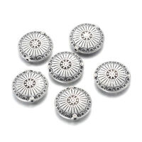 10pcs Tibetan Alloy Metal Beads Carved Round Loose Spacers Antique Silver 17.5mm