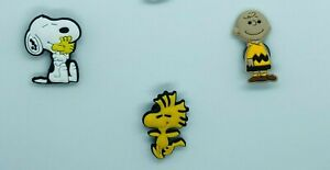 Shoe Charms for Crocs Set of 3 Snoopy Charlie Brown Classic Cartoon Clogs