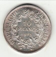 10 FRANCS ARGENT TYPE HERCULE  1972 SPL