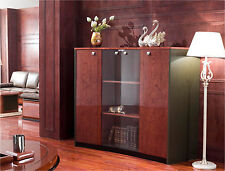 Gloss Walnut Executive 6865T Executive Office Display Cabinet 2m 2020mm wide
