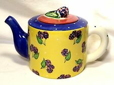 Teapot & Lid~Bois d'Arc by Essex Collection~Tutti Fruitti~Blackberry~Portugal
