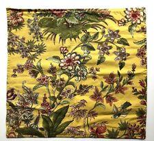 Pottery Barn EURO Throw Decorative Pillow Cover Linen Blend Yellow Green Floral