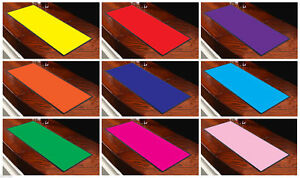 Vibrantly Coloured Bar Runners 9 Colours Available Yellow Red Purple Orange Blue
