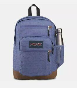 "JanSport Cool Student Backpack Bleached Denim Plain Weave-Holds 15"" Laptop-Water"