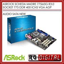 SCHEDA MADRE ASROCK 775i65G R3.0 SOCKET 775 DDR 400 ICH5 VGA AGP AUDIO SATA NEW