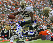 REGGIE BUSH signed/auto'd NEW ORLEANS SAINTS 8x10 photo w/SB XLIV Champs - GTSM