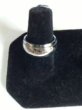 Stainless Steel Spinner Ring with Etched Design. Size 6 to 6.5 Free Ship In USA!