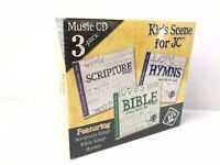 Kids Scene For JC Music Cd 3 Pack Bible Scripture Songs Hymns Over 65 Songs NEW