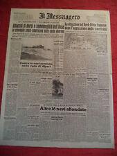 JOURNAL COLLABORATION FASCIO FASCISTA ITALIA IL MESSAGGERO 1942 WWII