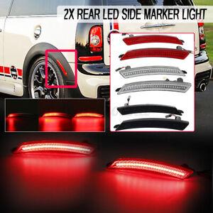 2x Dynamic Rear Fender Red LED Side Marker Light For MINI Cooper R55 R56 R60 R61