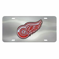 Fanmats NHL Detroit Red Wings Stainless Steel Diecast License Plate Inlay