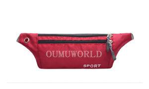 Sport Runner Waist Waterproof Bum Bag Running Jogging Belt Pouch Zip Fanny Pack