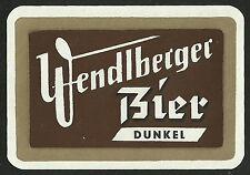 Bieretikett DUNKEL Brauerei † 1958 Berndorf-Wendlberg BL Salzburg ÖSTERREICH