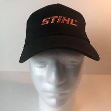 Stihl Cap Hat  SnapBack Black  Orange Official Licensed