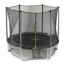 3 tlg. Trampolin Set, Outdoor Trampolin 305 cm, Fangnetz, Bodensicherungsnetz