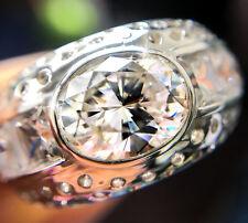 3 ct Oval Stunning Men's  Ring Top Vintage CZ Imitation Moissanite Simulant S 8