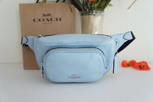 NWT Coach 6488 Court Belt Bag In Pebble Leather Waterfall $298