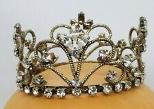 Silver Crown for Newborn  Baby, Photo Prop, Rhinestone,Tiara