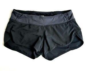 Lululemon Womens Size 4 Black Lined Run: Speed Running Shorts