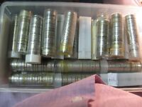 Roll Mixed Dates 1970's to 2000's Canada Nickels 5 Cent Coins One Roll From Lot.