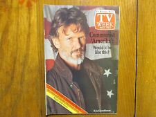 Feb-1987 Philadelphia Inquirer TV Week(KRIS  KRISTOFFERSON/RACHEL McLISH/AMERIKA