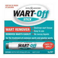 * WART-OFF STICK WART REMOVER 5G EASY TO USE TREATMENT COMMON AND PLANTAR WARTS