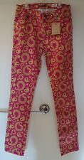 NWT Boden JohnnieB Pink/Gold Printed Ankle Grazers ~ Size 30L / 15-16 year