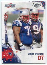 2010 Score Artist's Proof 171 Vince Wilfork 23/32