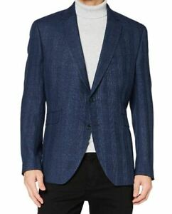 Hackett Hopsack check blazer partially lined  - poly, wool, viscose & linen mix