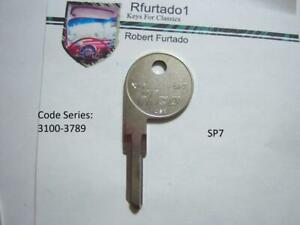 Key Blank for Vintage Alfa Romeo, Fiat door/trunk 1969-94 (see code series) SP7