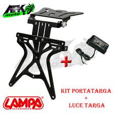 Kit Portatarga Regolabile con Luce Targa 4 Led Omologato Universale Moto scooter