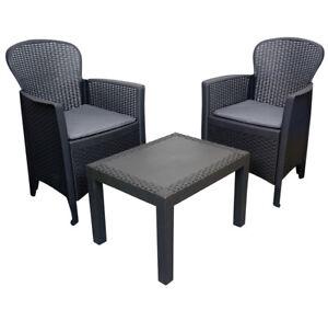 Gartenmöbel Set 5tlg Rattanoptik Lounge Sessel Garten Tisch Balkon Möbel Outdoor