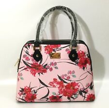 Authentic St. John Shoulder Bag/Purse, Rose/Pink Floral, Real Leather, With Tag