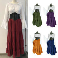 Women Medieval Renaissance Dress Costume Vintage Cosplay Victorian Dress Clothes