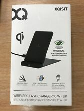 XQISIT QI Wireless Fast Charger 10w Black WiFi Charging Smartphones Stand