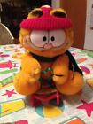 VINTAGE RETRO 1978 1981 GARFIELD THE CAT PLUSH ON CHRISTMAS SLEIGH MINT AWESOME