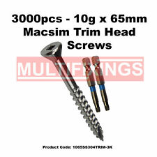 3000pcs - 10g X 65mm 304 Stainless Steel T17 Decking Screws