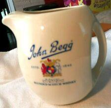 "JOHN Begg Ceramic Water Blended Scotch Whisky Pitcher 6"" high"
