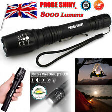 8000Lumens Flashlight Zoom Tactical 5 Modes XML T6 LED Torches 18650 Lamps Light