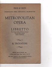 Metropolitan Opera Libretto don giovanni Fred Rullman jc