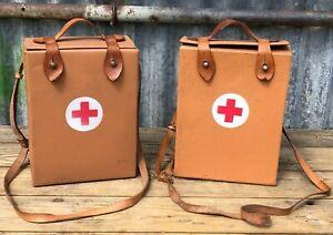 COLD WAR CZECHOSLOVAKIAN CIVIL DEFENCE RED CROSS FIRST AID KIT SHOULDER BAG CASE