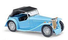 Busch 45912 MG Midget TC, Cabriolet closed, Blue, H0 Car model 1:87