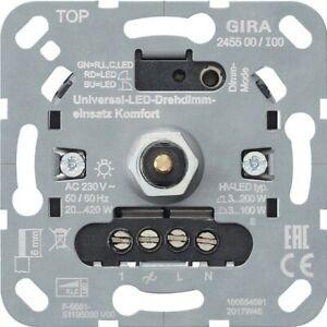 System 3000 Universal-LED-Dreh Dimm Einsatz Komfort Gira System 3000 --2 Stück--