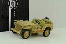 1943 Jeep Willys US Army Casablanca dessert sand dirty  1:18 Tripple9
