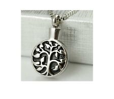 Celtic Tree of Life Silver Stainless Steel Cremation Urn Pendant Necklace