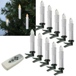 ❤️ Funk LED Christbaum-Kerzen mit Fernbedienung für Innen & Außen kabellos IP44