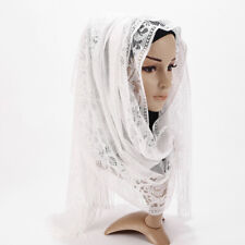 Women Maxi Ladies Plain Hijab Lace Shawl Pretty Soft Scarf Sarong Plain Hijab