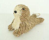 NEW Pier 1 Bristle Brush Rustic Seal Sea Lion Holiday Christmas Tree Ornament
